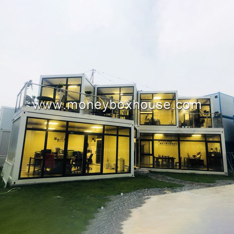 Guangzhou factory prefab construction movable jual site container office